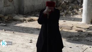 بالفيديو: المطران داود شرف يبكي على الخراب الذي حلّ بكنيستهه في الموصل