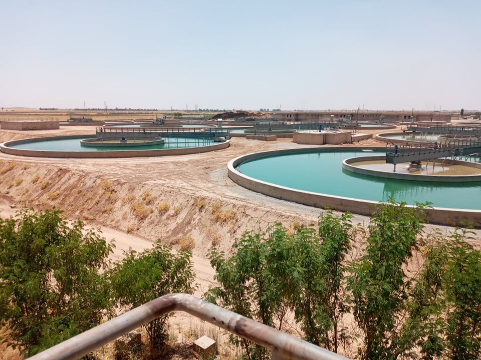 Kirkuk, 2 July 2020 - Part of the purification facilities of Kirkuk Unified Water Project - Photo by Goran Baban
