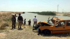 4 çocuk boğuldu<br>arabalarıyla bir aile Dakuk'un su projesine düştü