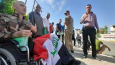 Retired police personnel stage demonstration in Kirkuk