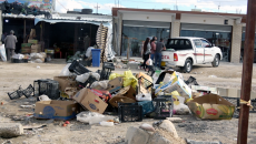Streets littered with rubbish in Sinuné, Shingal