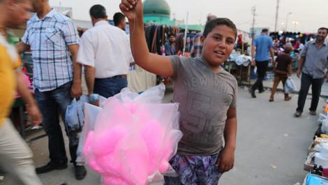 Kirkuki children work even on International Children's Day