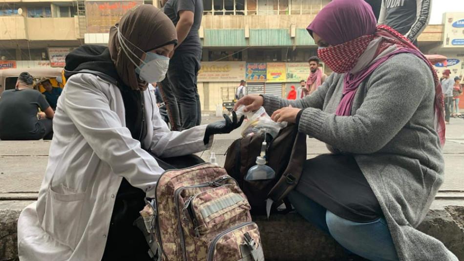 بهغداد: ژنان له هێڵی پێشهوهی خۆپیشاندانهكانن