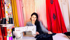 Displacement did not stop Sayfi from designing traditional Ezidi attire