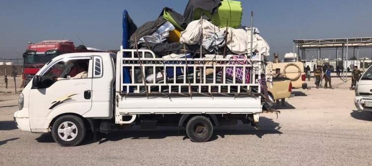 خلال ثمانية ايام..<br> ثلاث وجبات من نازحي نينوى تعود إلى مناطقهم الاصلية