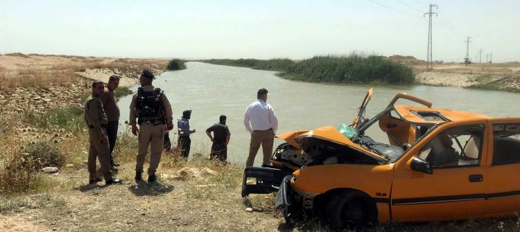 غرق أربعة أطفال جراء سقوط مركبة في مشروع ماء جنوبي كركوك