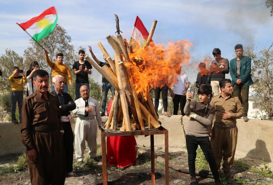 Fotoğraflarla Kerkük'te Newroz kutlamaları