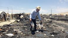 Şarya kampında çıkan yangının zararı 750 milyon dinar