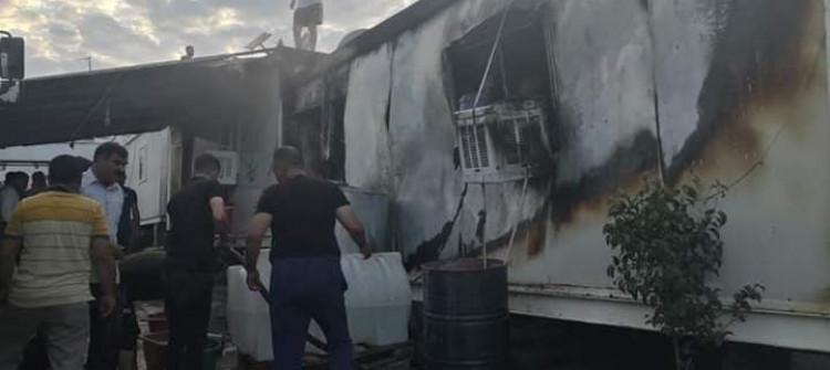 Duhok şehrinde mültecilerin dokuz karavanı yakıldı