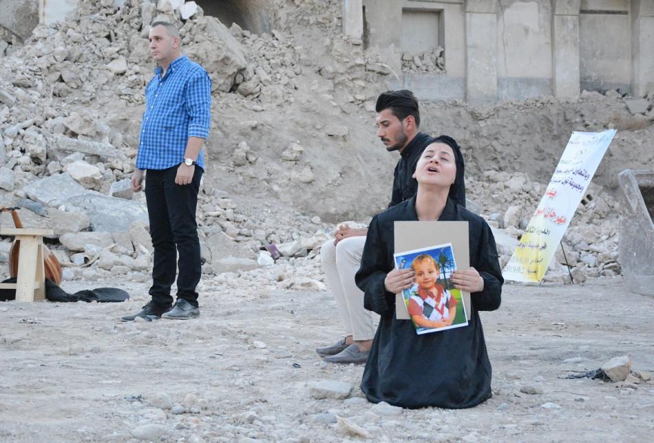 اول عرض مسرحي لفنانين مسيحيين داخل الموصل