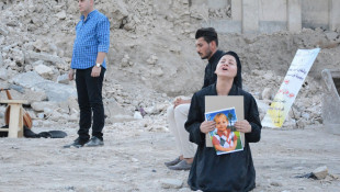 A theatre performance amid the ruins of Mosul