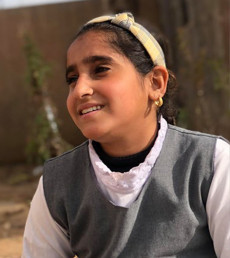 Arab IDP girl top student at Kurdish school