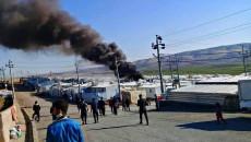 خسائر مادية في مخيم للنازحين الايزيديين بقضاء زاخو إثر حريق