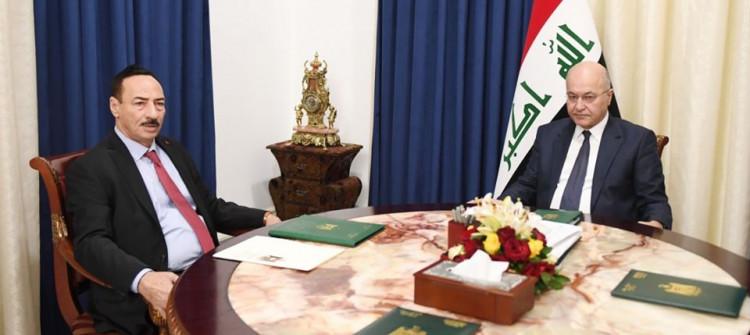 فور توليه منصب محافظ نينوى<br>سلسلة لقاءات رسمية جمعت نجم الجبوري مع كبار مسؤولي الحكومة الاتحادية