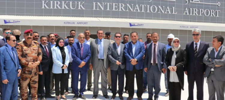 The project is 6 months behind schedule  <br>  85% of Kirkuk International Airport's works are complete