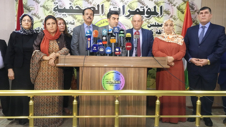 كركوك: دون اجراء الانتخابات<br>تفاصيل زيادة مقاعد الحزب الديمقراطي الكوردستاني في مجلس محافظة كركوك
