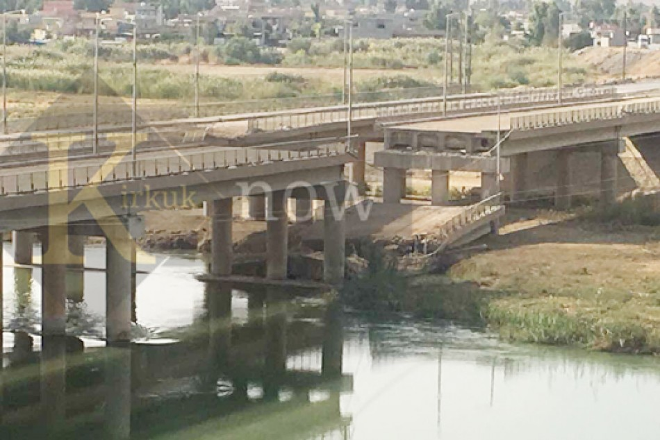 No budget allocated to rebuild main bridge connecting Kirkuk with Erbil: Prde officials say