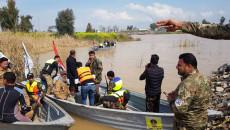اكثر من 90 مفقودا في حادثة عبارة الموصل<br> عشرات الغواصين الأجانب والمحليين يبحثون عن الجثث بدجلة